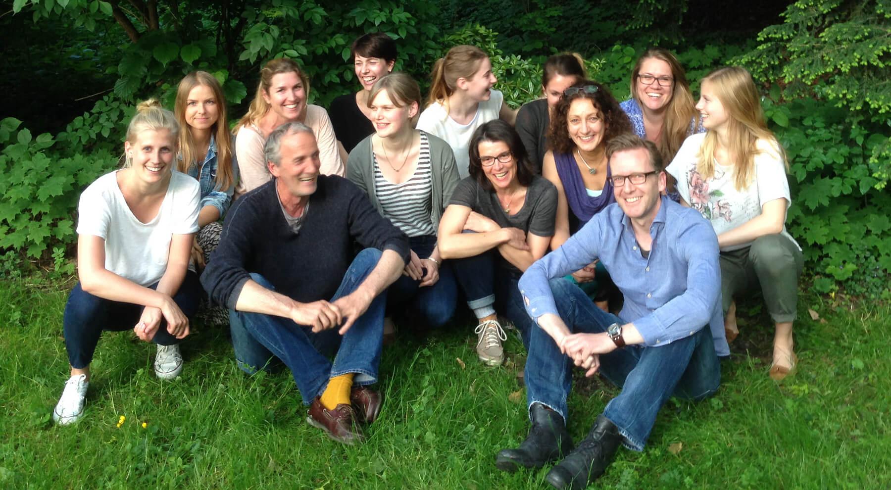 Das WOGGON Team im Grünen